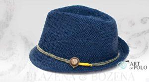 Modrý slamák s kotvou