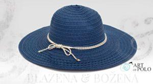 Modrý dámský klobouk