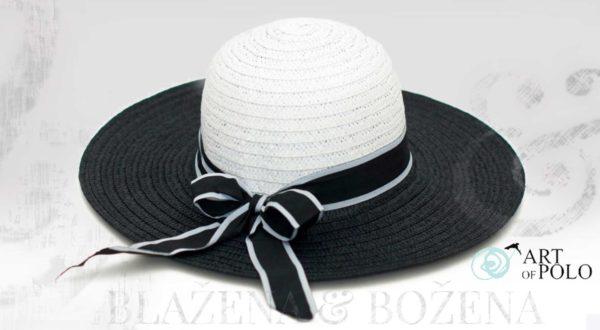 Letní klobouk černobílý