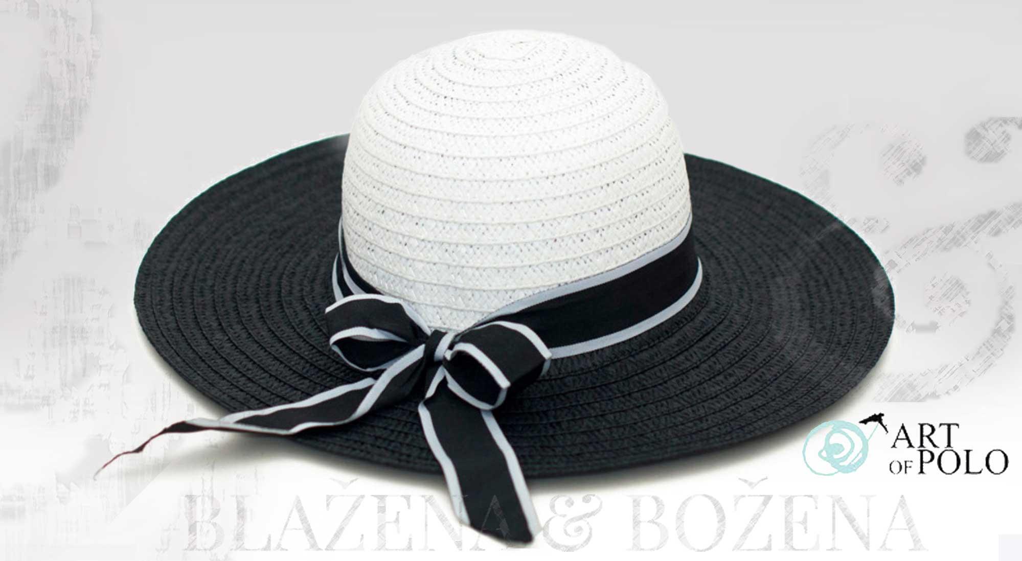 459ff4f9178 Letní klobouk Black White – Blažena Božena