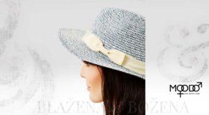 Moodo modrý letní klobouk