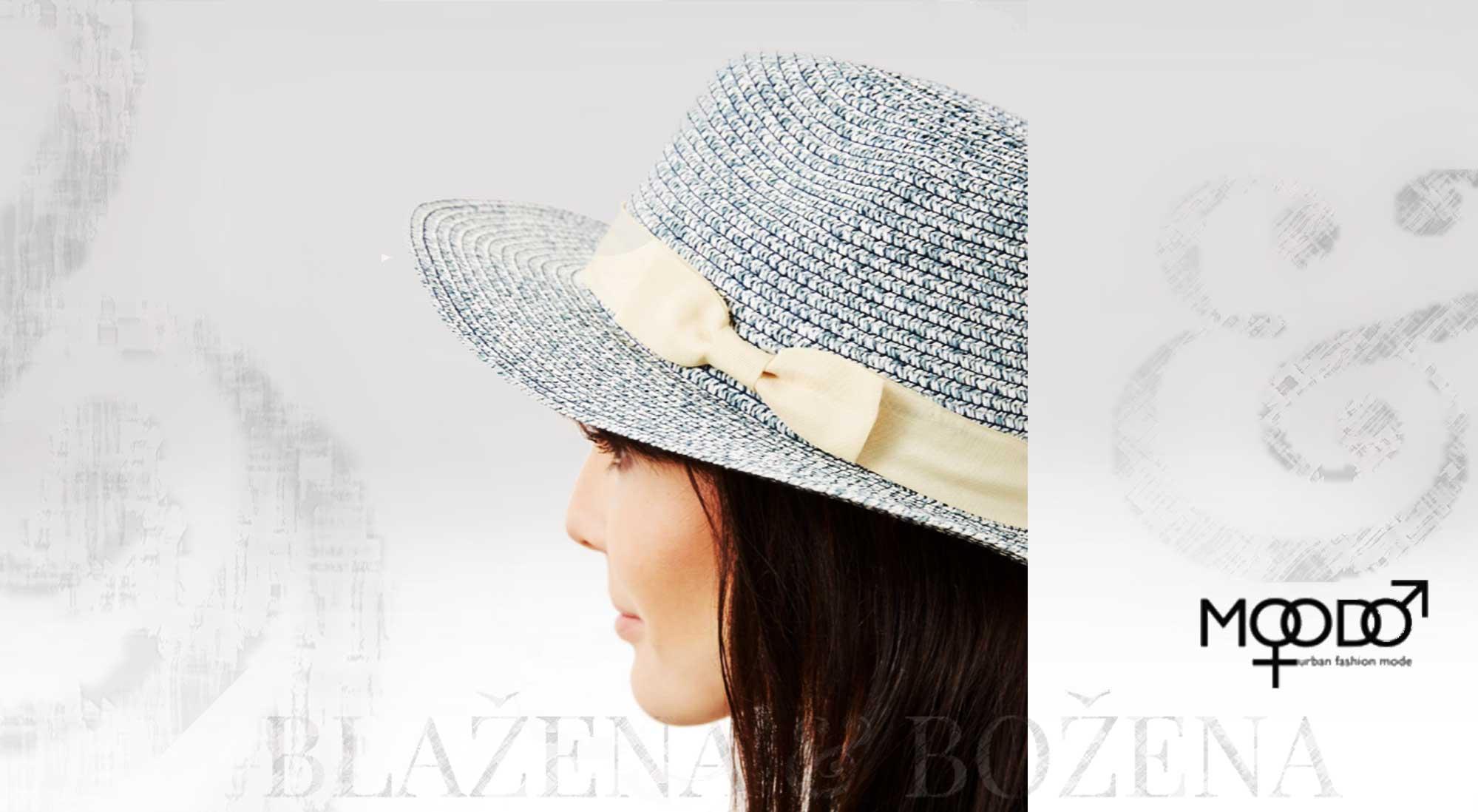 Blažena Božena. královny klobouků. Moodo modrý letní klobouk 58e867a11a