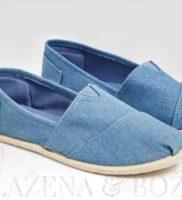 Espadrilky jeansové světlé