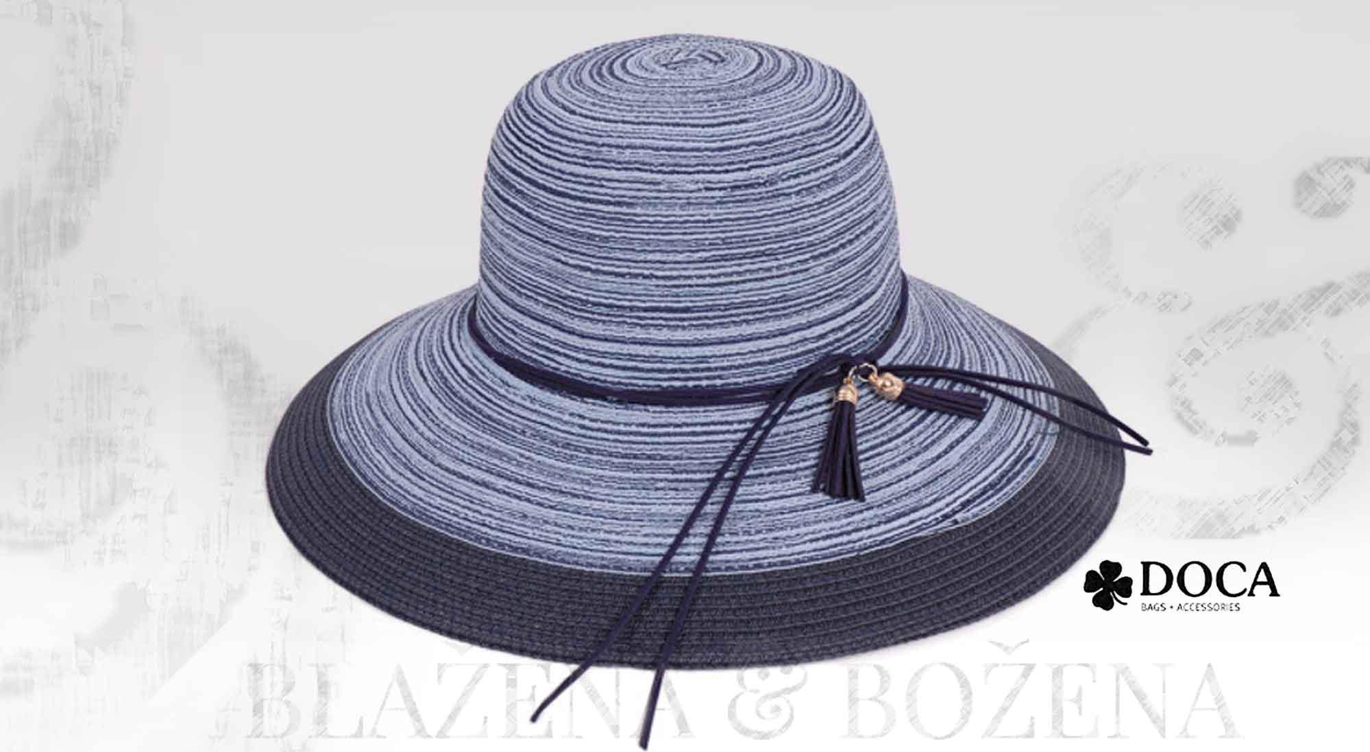 Blažena Božena. královny klobouků. Modrý dámský klobouk Doca Extra de2f149434