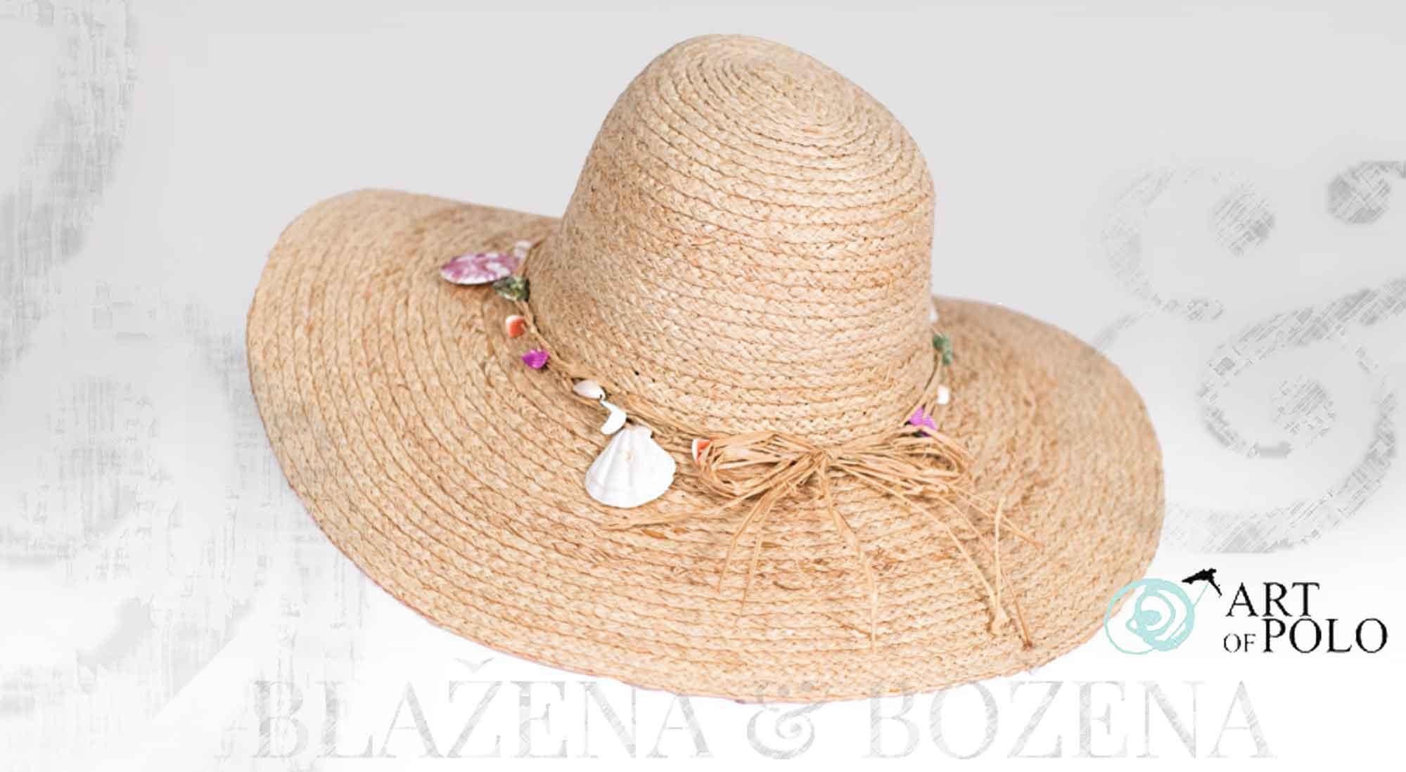 8376eb2427b Blažena Božena. královny klobouků. Dámský letní klobouk Raffia