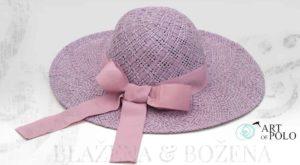 Šeříkový klobouk s mašlí Dame