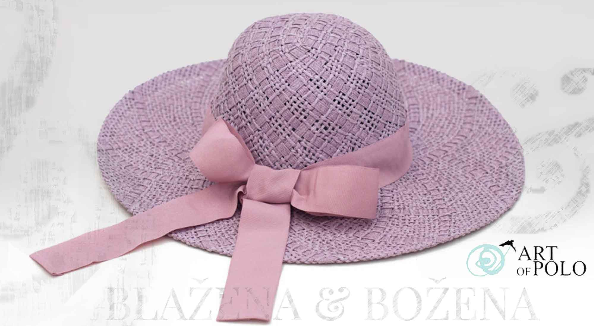 Blažena Božena. královny klobouků. Šeříkový klobouk s mašlí Dame f1a7238d63