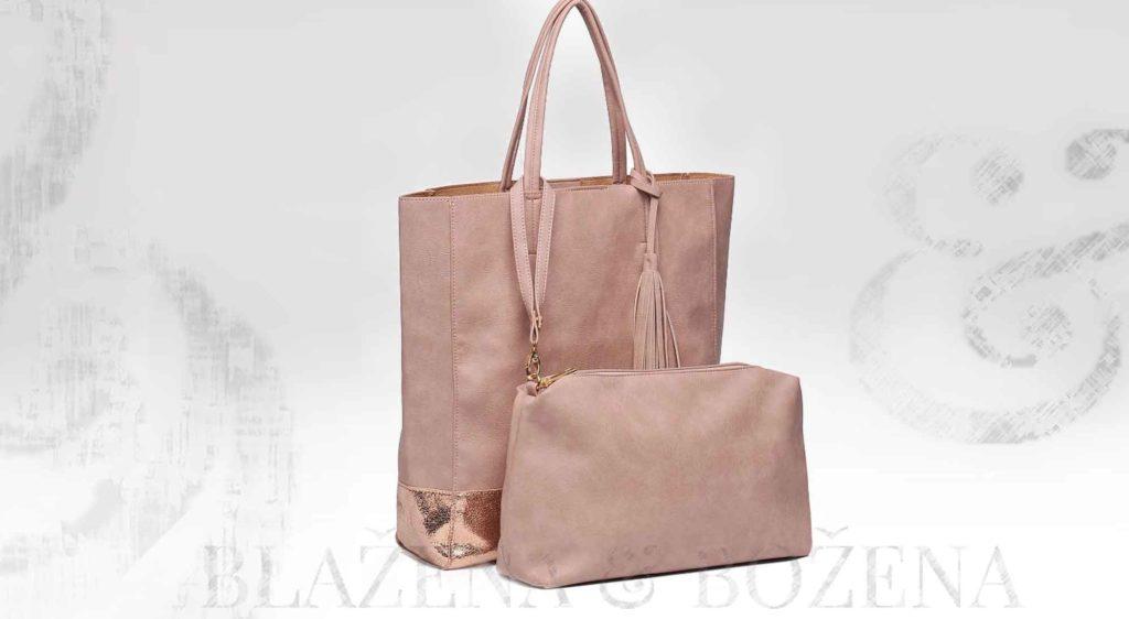 Dámská taška v lasturově růžové